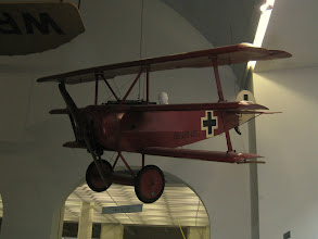 """Photo: Deutsches Museum exhibits: Fokker Dr1 triplane. The plane used by the German WWI ace, """"the red baron"""""""