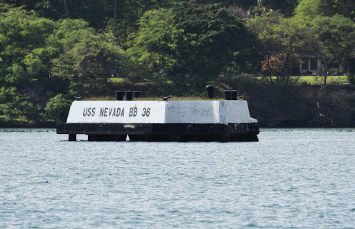 pearl-harbor4-USS-Nevada.jpg - Marking the site where the USS Nevada was sunk.