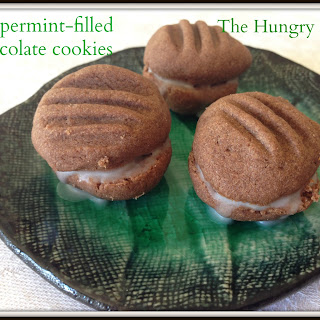 Donna Hay chocolate cookies with peppermint filling