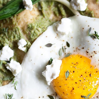 Asparagus Pesto Pizza with Ramps and Eggs