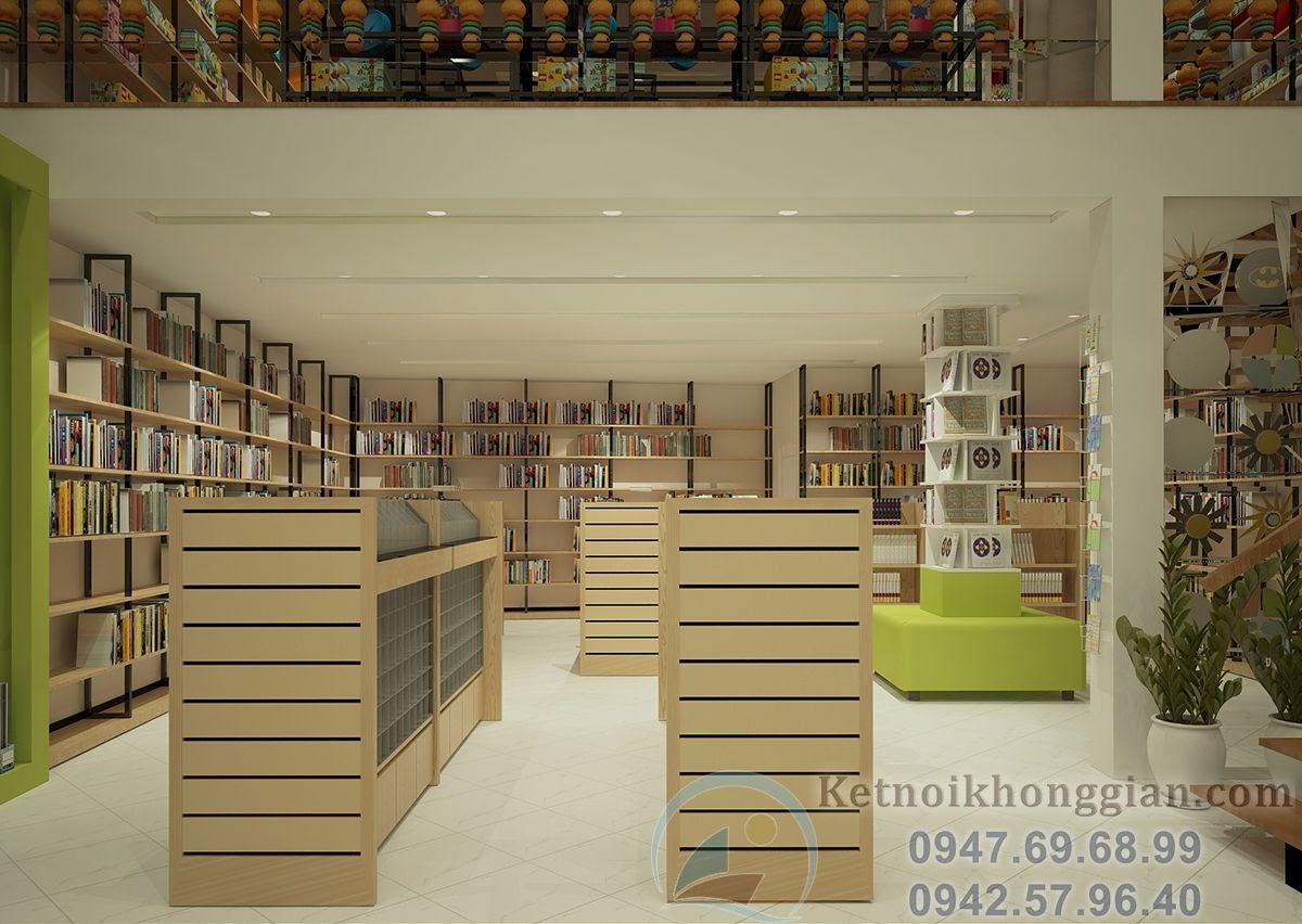 thiết kế nhà sách diện tích 150m2
