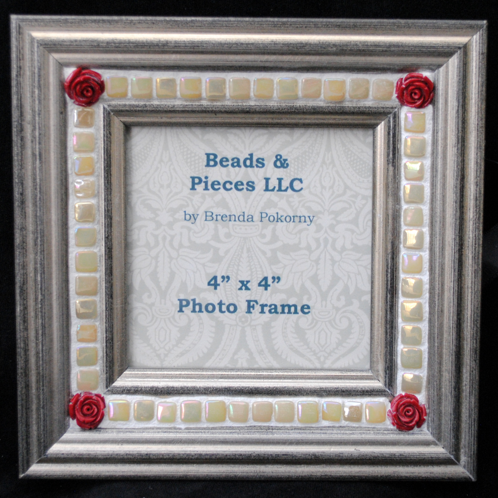 Romantic Style Mosaic Frames Beads Pieces