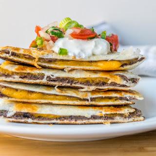 Cumin Black Bean and Cheese Quesadillas