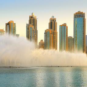 Dubai Fontain by Zdenka Rosecka - City,  Street & Park  Skylines ( Urban, City, Lifestyle )