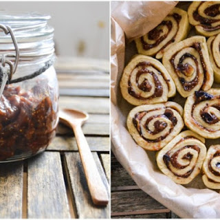 Cinnamon Buns with Date & Fresh Fig Spread