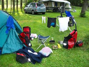 Photo: 7e Dag, woensdag 22 juli 2009 Shellbronn -Melchingen Dag afstand: 81,6 km. Totaal gereden: 664 km. De camping in Mechingen.