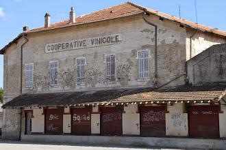 Photo: Dans l'ancienne coopérative vinicole...