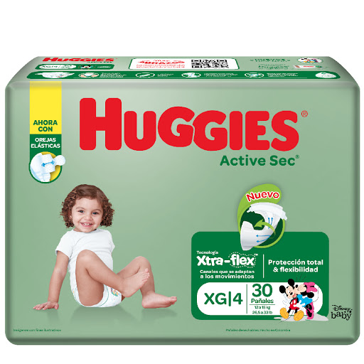 pañal huggies active XG 30Und