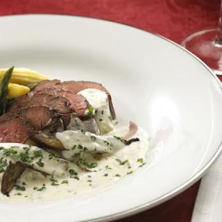 Beef Tenderloin With Creamy Alouette® Mushroom Sauce