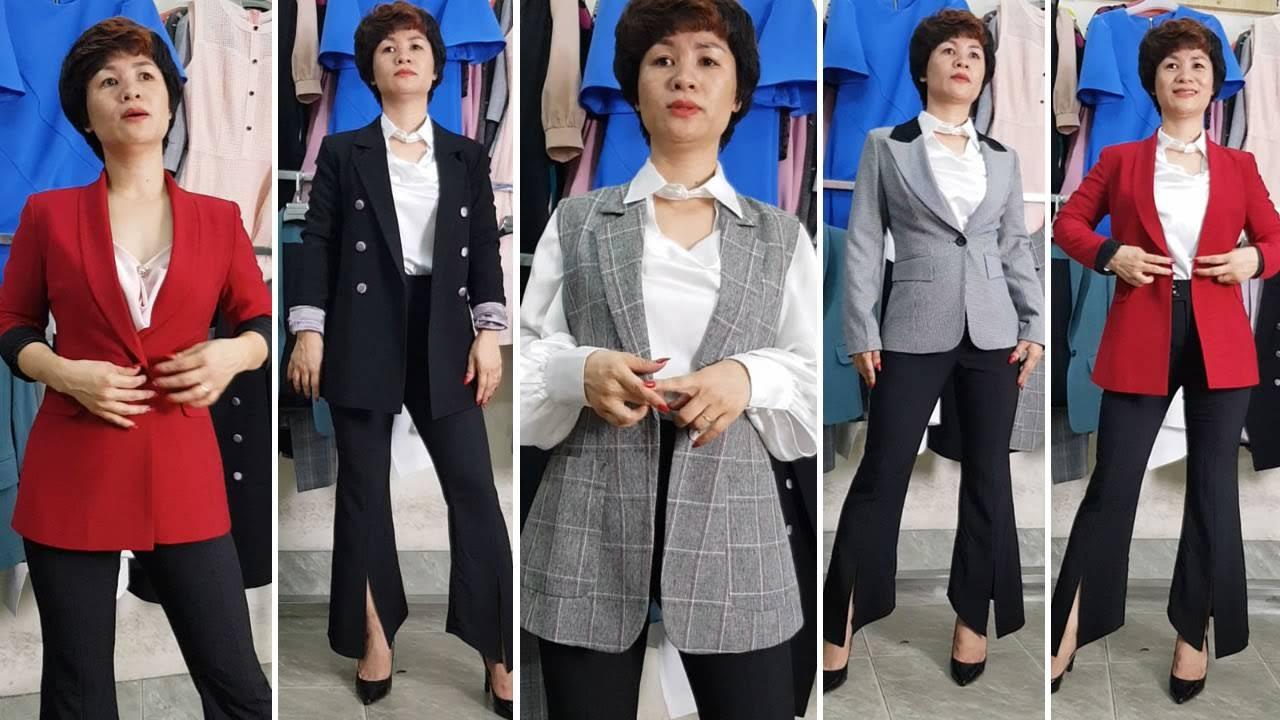 5 kiểu mix đồ áo Vest Nữ với quần Ống Loe phần 2 thời trang thuỷ