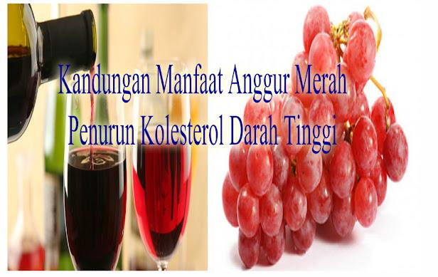 Efek Manfaat Buah Anggur Merah Bagi Penderita Kolesterol Darah Tinggi