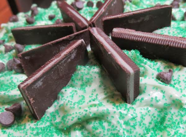 Irish I Had A Mint-minty Cream Cheese Frosting.