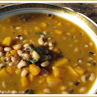 Butternut Squash & Black Eyed Pea Soup.