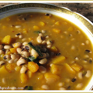 Butternut Squash & Black Eyed Pea Soup.