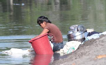 Photo: Washing on the Napo