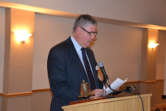 Photo: ASHRAE OVC President Don Weekes welcoming members and guests
