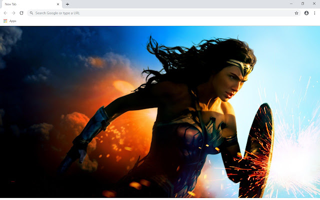 Wonder Woman New Tab & Wallpapers Collection