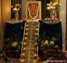 Photo: The Ayyappa alter including the 18 steps created by our dear DC devotees  in wood