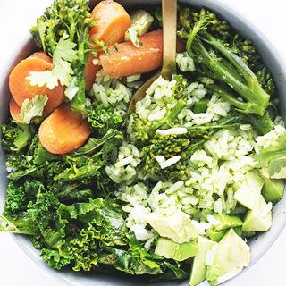 Green Detox Bowl With Thai Basil Pesto [Vegan]