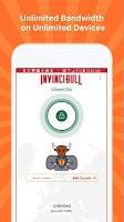 screenshot of InvinciBull VPN - Safe. Private. Invincible.