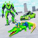 Crocodile Robot Car Simulator: War Robot Games icon