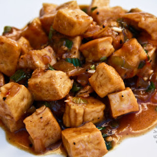 Garlic Pepper Tofu (vegan, gluten-free).