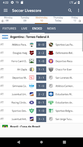 Soccer Livescore 1.0 screenshots 1