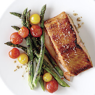 Miso-Glazed Wild Salmon with Sesame Asparagus