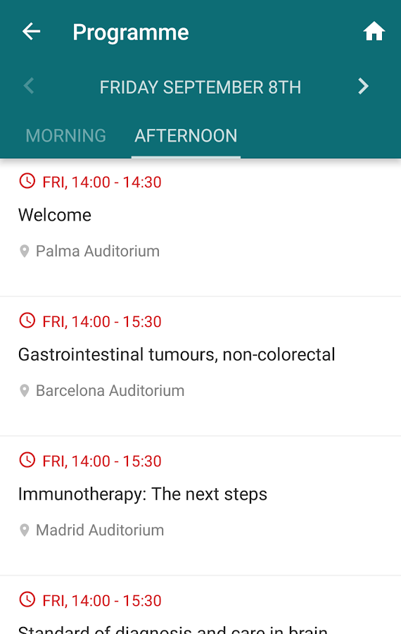 ESMO Events- screenshot