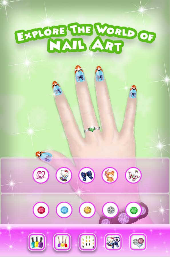 Nail Art Salon Game App Icon Install