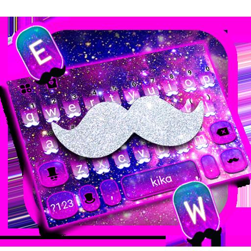 Galaxy Silver Beard Keyboard Theme Icon
