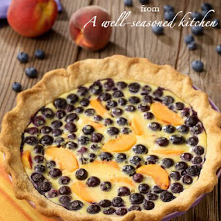Blueberry-Peach Custard Pie.