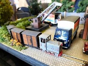Photo: 017 Trevor Giddings' tiny Hof train passes the entrance to Marshall & Hastings Works .
