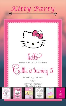 Download Kitty Party Invitation Card Maker by Aprox Infosys APK