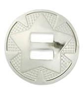 """CONCHO nickel 1½"""" 38 mm 10 pack"""