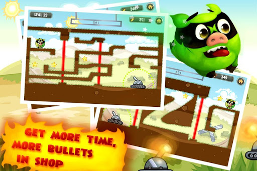 Fire Piggy -- hit the bad pig with bullet & rocket screenshot 3