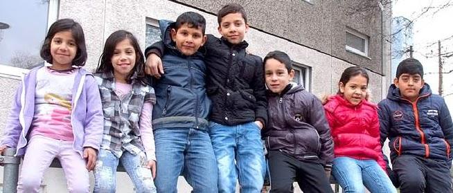 Kinder, Gruppenfoto.