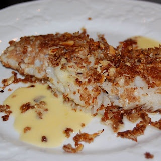 Almond Encrusted Fish with (an easy) Beurre Blanc Sauce