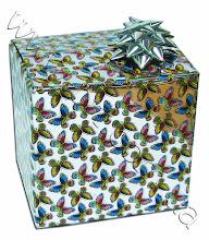 Photo: Подарочная упаковка из фольги с декоративным бантиком