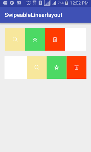 Swipeable Linear Layout|玩程式庫與試用程式App免費|玩APPs