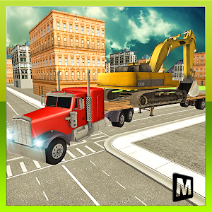 Heavy Machine Transport Truck for PC and MAC