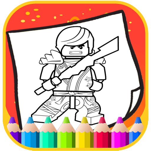 Art Legoe Coloring Page Ninja go Cartoon (game)
