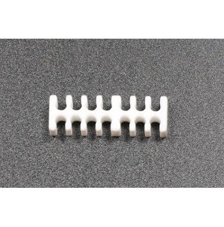 Kabelkam for 14 pins kabel, 2x7 Ø4mm spor, hvit