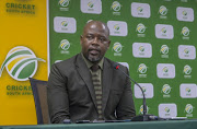 CEO Thabang Moroe of Cricket South Africa during the CSA Media Briefing at CSA Offices on July 17, 2018 in Johannesburg, South Africa.