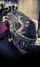 Photo: Un masque incroyablement réussi d'une tête d'alien !