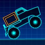 Neon Truck Icon