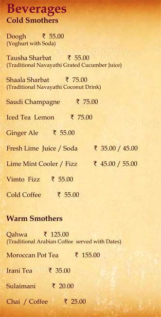 Alibaba Cafe and Restaurant menu 11