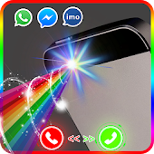 Color flash on call and sms: Color screen light