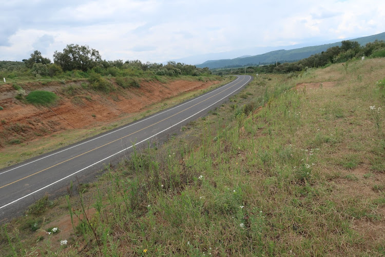 A section of Moi North Lake road in Naivasha.