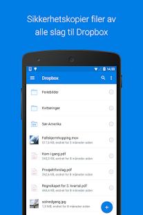 Dropbox-skjermdump – miniatyrbilde